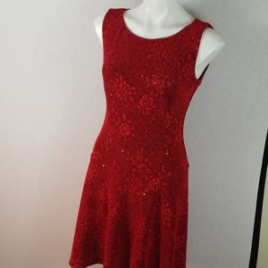 Connected Apparel Size 8 red sequin